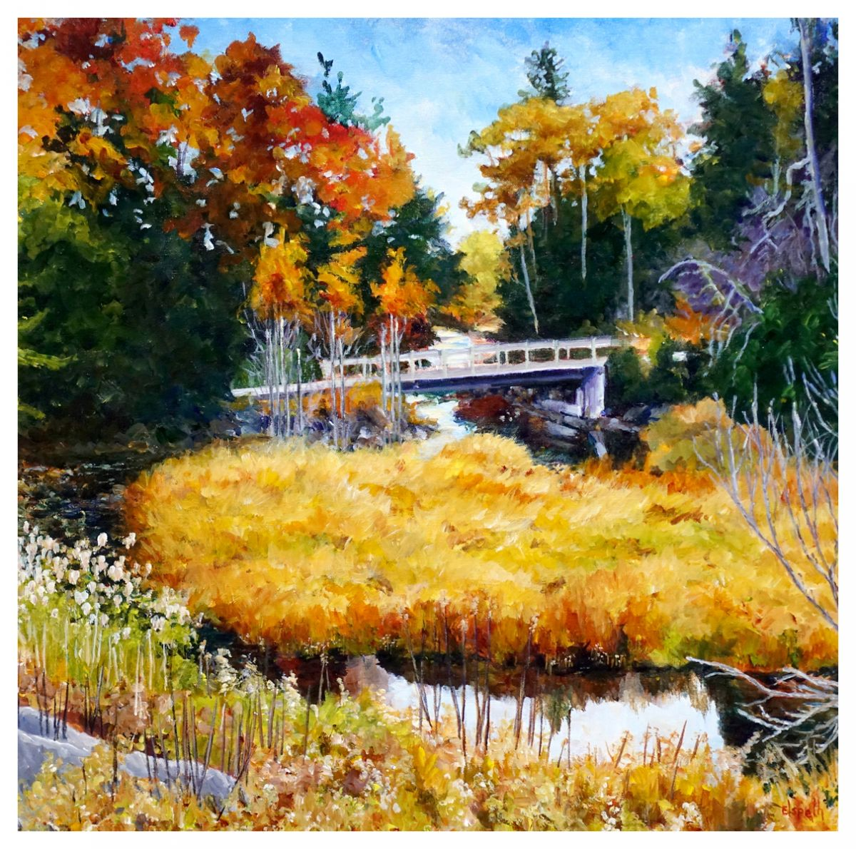 cross over the bridge-24x24-$1350.jpg