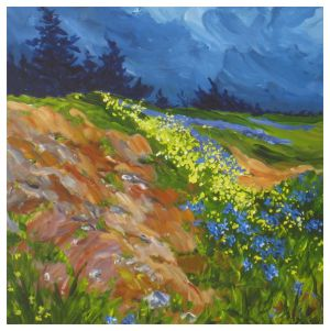 yellow and blue-18x18-$800